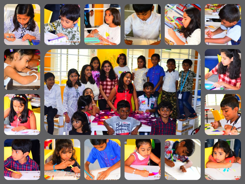 Children for painting Competition at InKnowTech
